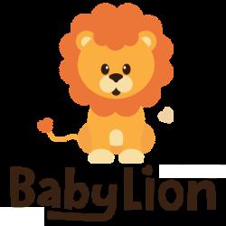BabyLion Babafészek - Kifordítható - Kék - Fehér felhőcskék