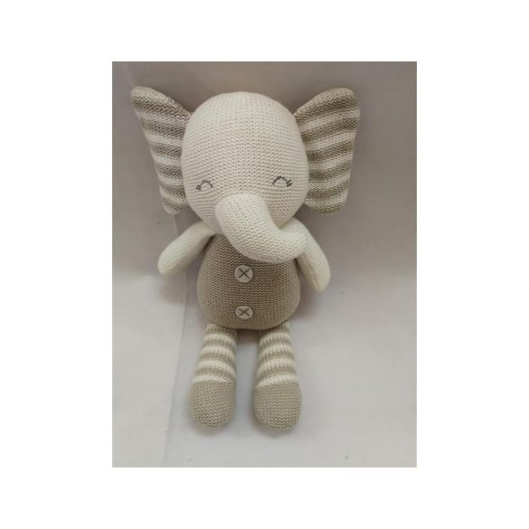 Baby Hug - Kötött elefánt - 35 cm