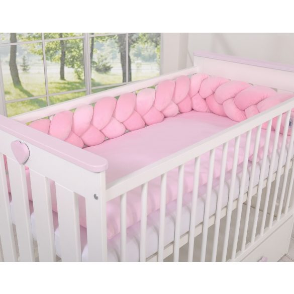 BabyLion Prémium Plüss fonott rácsvédő - Rózsaszín