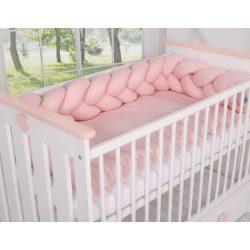 BabyLion Prémium Fonott rácsvédő - Púder rózsaszín