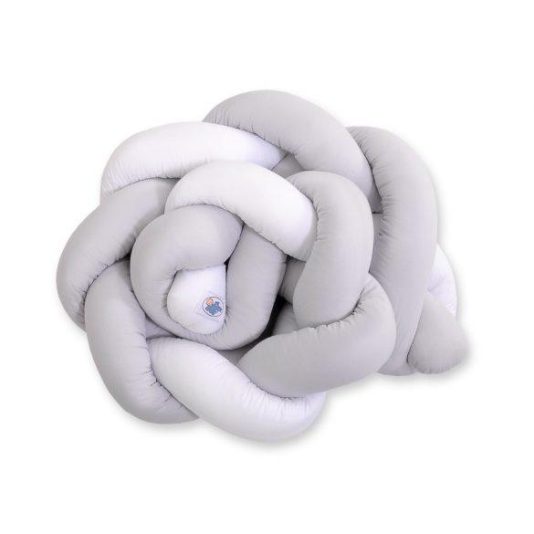 BabyLion Prémium Fonott rácsvédő - Szürke-fehér