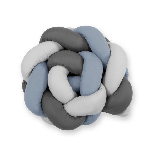 BabyLion Prémium Fonott rácsvédő - Sötétszürke-szürke-pasztell kék