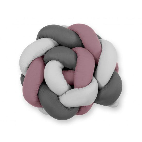 BabyLion Prémium Fonott rácsvédő - Sötétszürke-szürke-violet