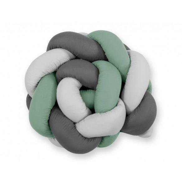 BabyLion Prémium Fonott rácsvédő - Sötétszürke-szürke-pasztell zöld