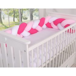 BabyLion Prémium Fonott rácsvédő - Magenta-Rózsaszín-Fehér