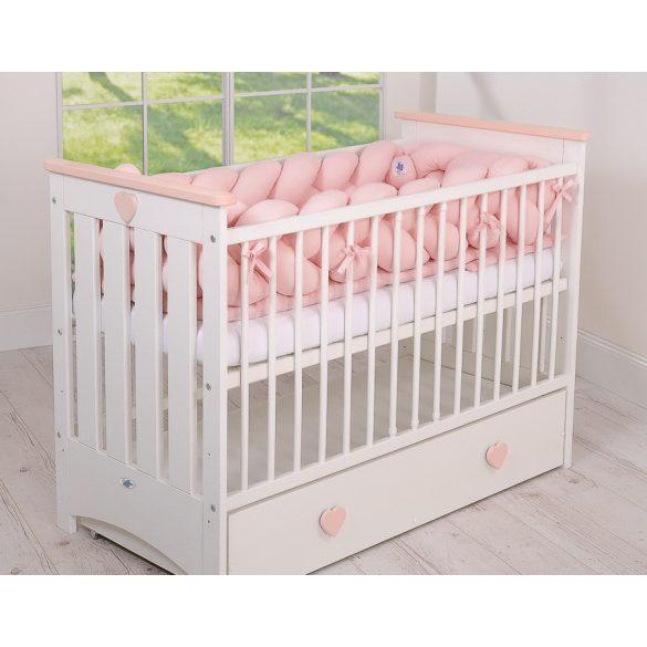 BabyLion Prémium Fonott rácsvédő XXL - Púder rózsaszín