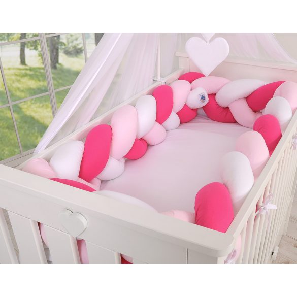 BabyLion Prémium Fonott rácsvédő XXL - Magenta-Rózsaszín-Fehér