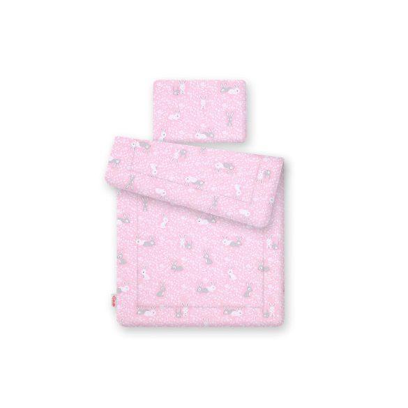 BabyLion Prémium 2 részes ágyneműszett - Rózsaszín nyuszik