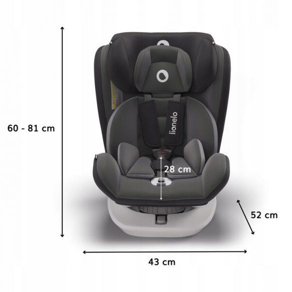 Lionelo Bastiaan 360°-ban forgatható ISOFIX gyermekülés 0-36 kg - Grey