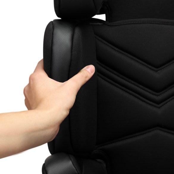 Lionelo Hugo ISOFIX gyermekülés 15-36 kg - Leather Black