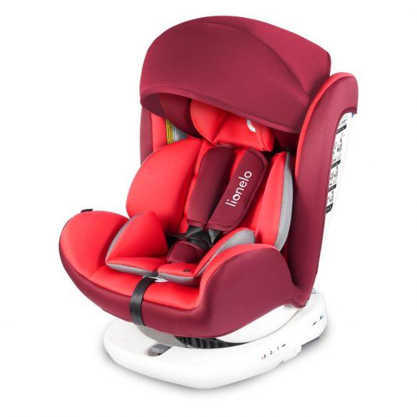Lionelo Bastiaan 360°-ban forgatható ISOFIX gyermekülés 0-36 kg - Red