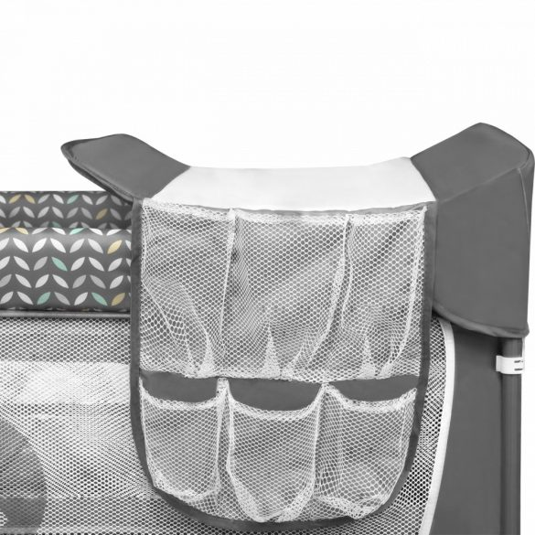 Lionelo Flower multifunkciós utazóágy - Grey Scandi