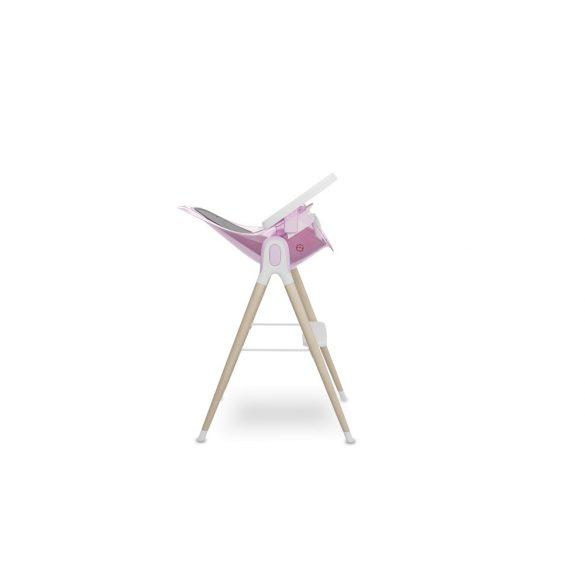Lionelo Maya Fa lábú etetőszék - Pink Rose