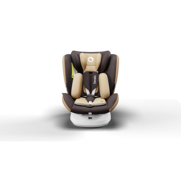 Lionelo Bastiaan One 360°-ban forgatható IsoFix gyermekülés 0-36 kg  - Beige Chocolate