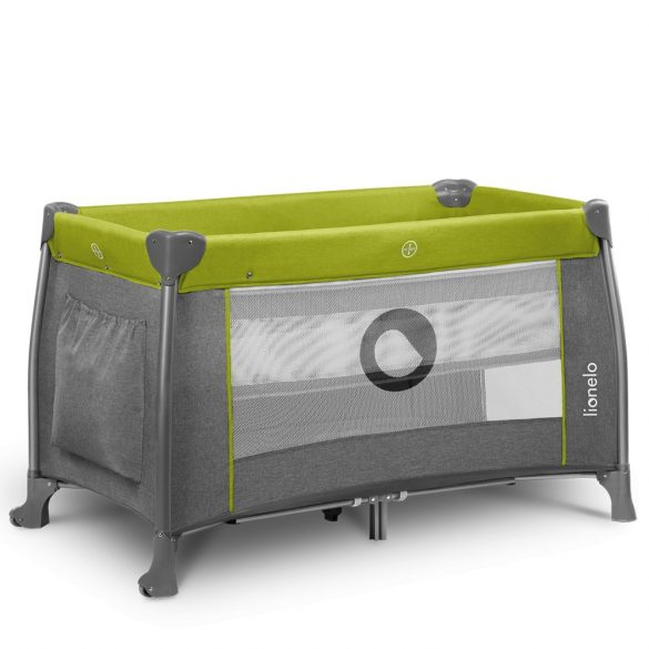 Lionelo Thomi multifunkciós utazóágy - Green Lemon