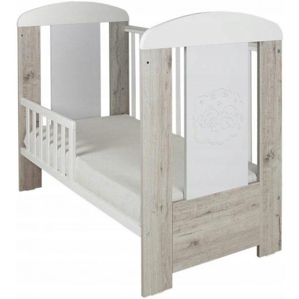 Drewex Bear Premium kiságy 60x120 - Oak Cortona-White