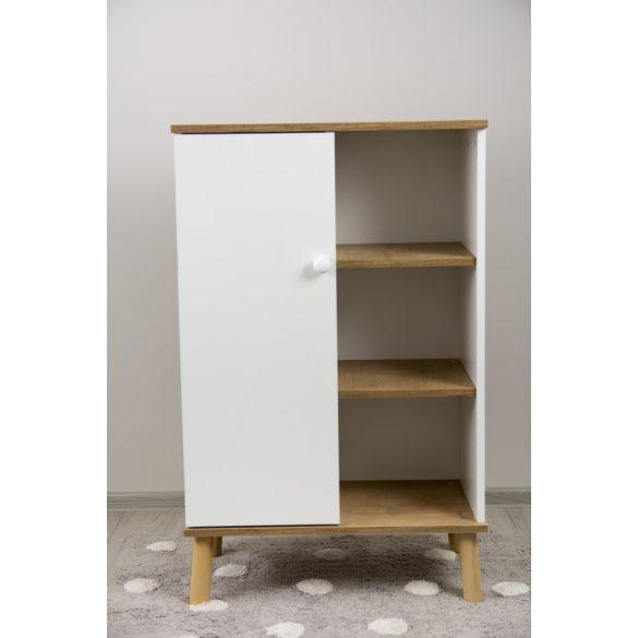 Drewex Basileo szekrény - Oak Burlington -White