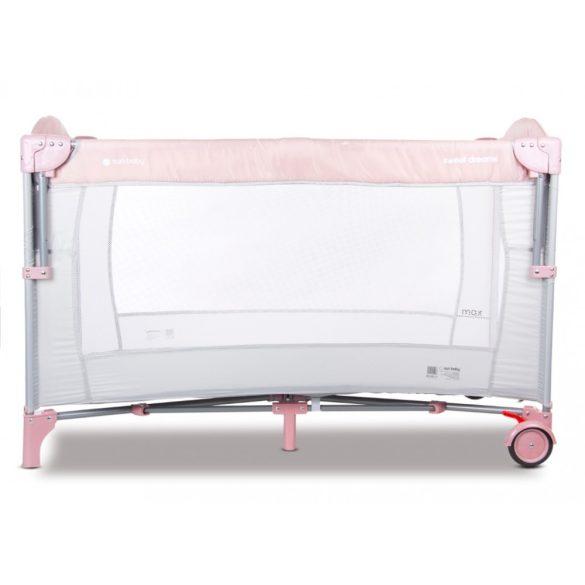 Sun Baby Multifunkciós utazóágy - Rózsaszín-szürke