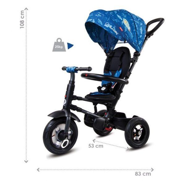 Sun Baby Qplay Rito lapra csukható tricikli - Kék UFO