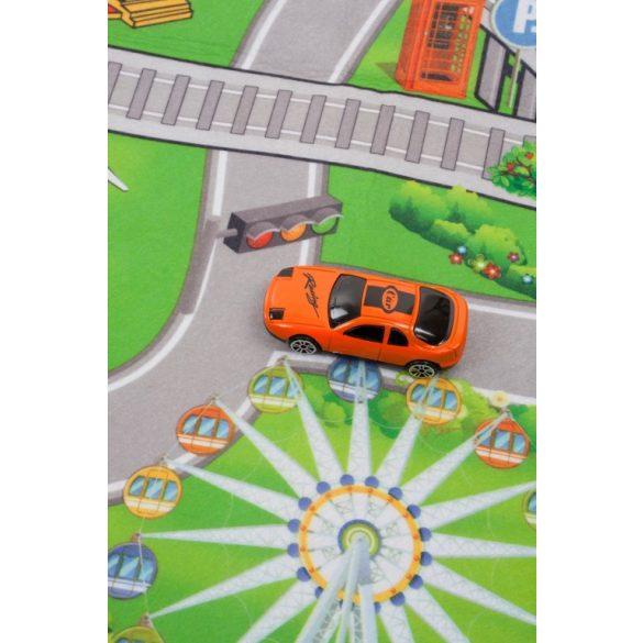 Sun Baby játszószőnyeg autókkal - Vonat (120*80cm)