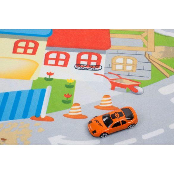 Sun Baby játszószőnyeg autókkal - Építkezés (120*80cm)