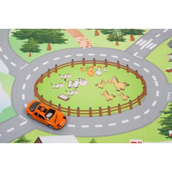 Sun Baby játszószőnyeg autókkal - Havas táj (120*80cm)
