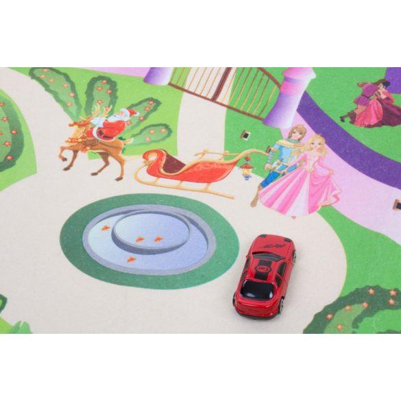 Sun Baby játszószőnyeg autókkal - Kastély (120*80cm)