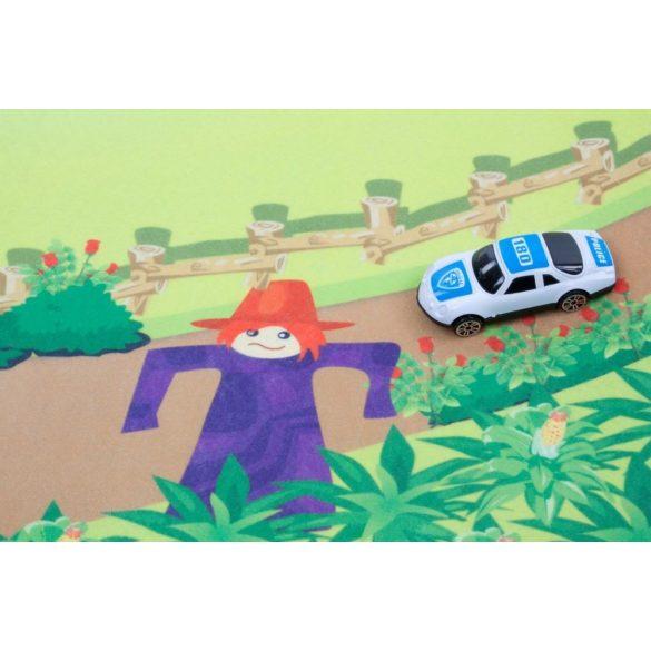 Sun Baby játszószőnyeg autókkal - Farm (120*80cm)