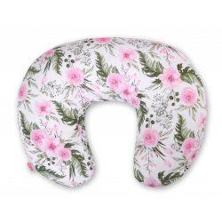 BabyLion Prémium Etető párna - Rózsaszín virágok