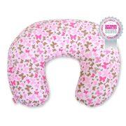 BabyLion Prémium Etető párna - Rózsaszín pillangók