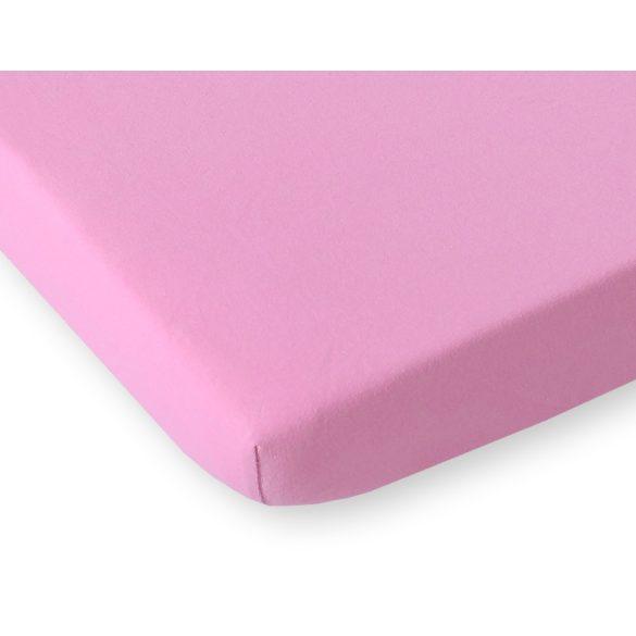 BabyLion Prémium Gumis Jersey lepedő - 60x120 - Rózsaszín