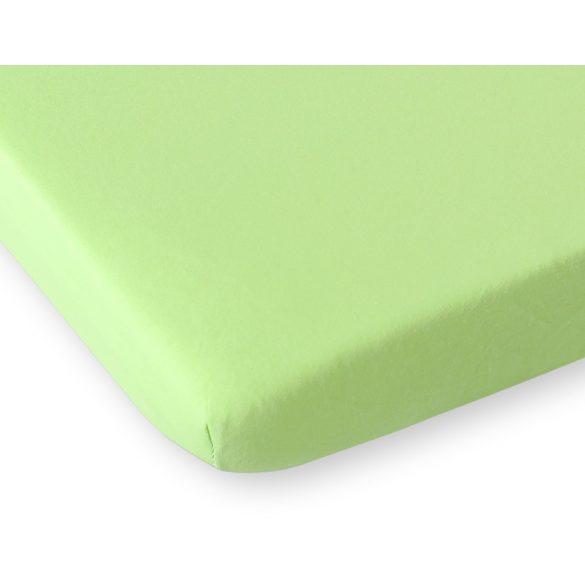 BabyLion Prémium Gumis Jersey lepedő - 60x120 - Alma zöld