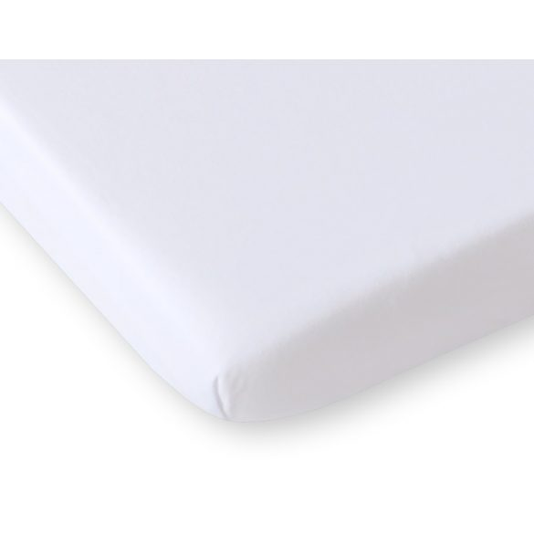 BabyLion Prémium Gumis Jersey lepedő - 60x120 - Fehér