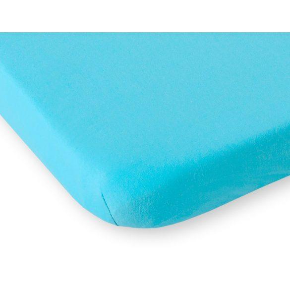 BabyLion Prémium Gumis Jersey lepedő - 60x120 - Türkiz Kék