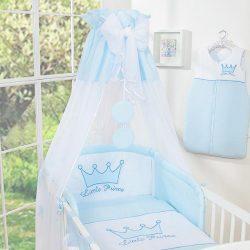 BabyLion Prémium baldachin - Kék - Fehér gömbök - Prince/Princess