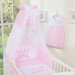 BabyLion Prémium baldachin - Rózsaszín - Fehér gömbök -Princess