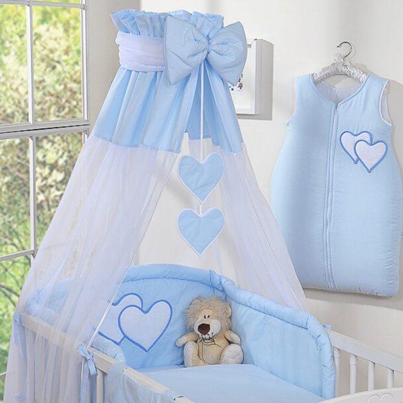 BabyLion Prémium baldachin - Kék szivecskékkel