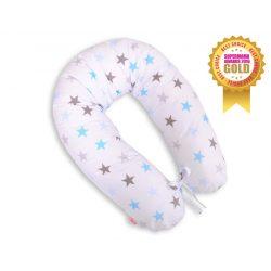 BabyLion Prémium XXL szoptatós párna - Kék csillagok