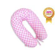 BabyLion Prémium szoptatós párna - Rózsaszín nagy pöttyök