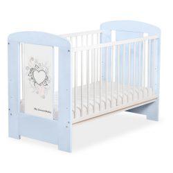 BabyLion Prémium Chic kiságy - 60x120 - Kék-fehér