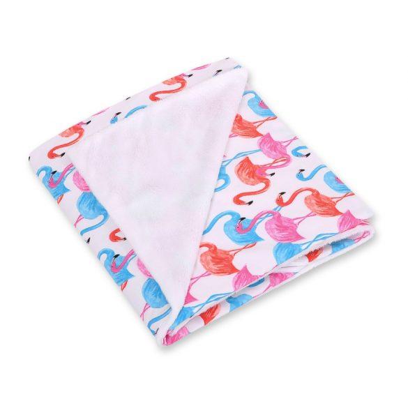 BabyLion Prémium univerzális kétoldalas takaró - Fehér - Flamingó