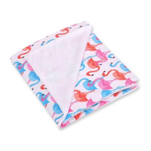 BabyLion Prémium univerzális kétoldalas takaró - Fehér - Flamingó  !! KIFUTÓ !!