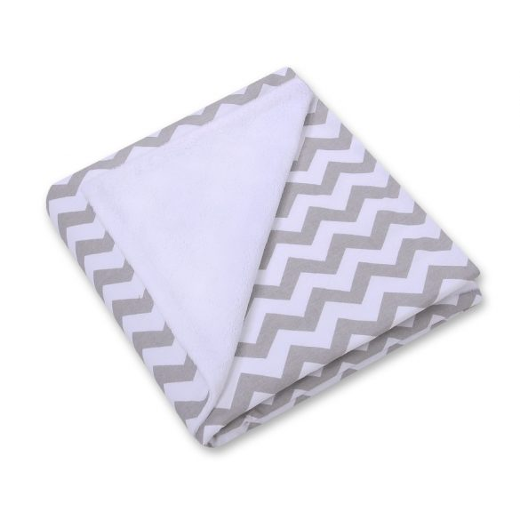BabyLion Prémium univerzális kétoldalas takaró - Fehér - Szürke cikkcakk