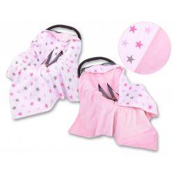 BabyLion Prémium univerzális takaró - Rózsaszín - Csillagok