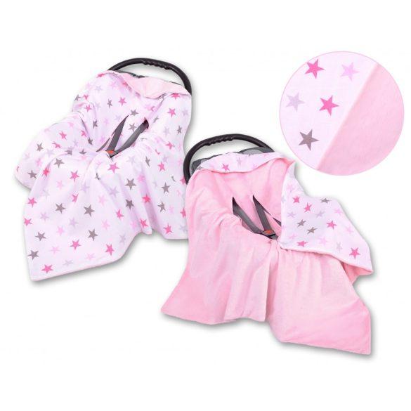 BabyLion Prémium univerzális kétoldalas takaró - Rózsaszín - Csillagok