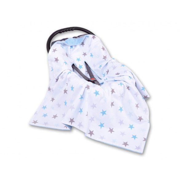 BabyLion Prémium univerzális kétoldalas takaró - Kék - Csillagok