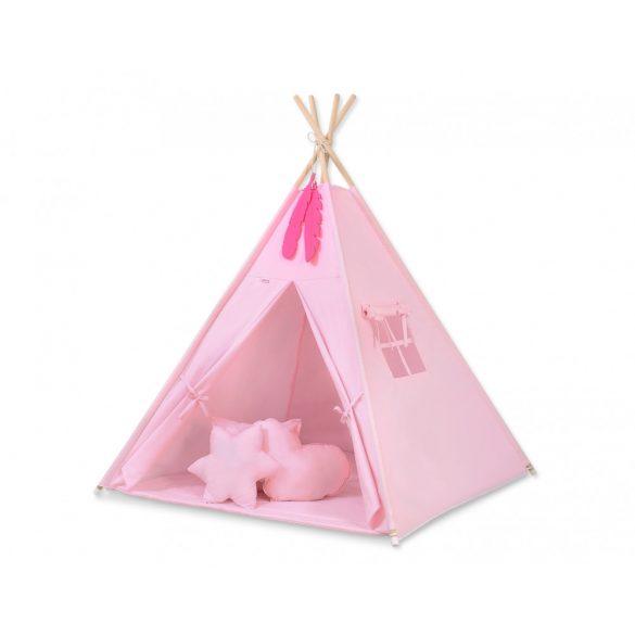 BabyLion Textil sátor játszószőnyeggel és párnákkal - Rózsaszín