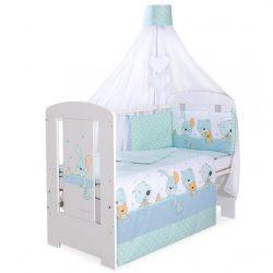 BabyLion Prémium 5 részes ágynemű szett - Kék macik