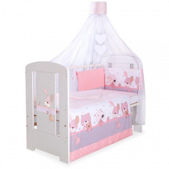 BabyLion Prémium 5 részes ágynemű szett - Rózsaszín macik