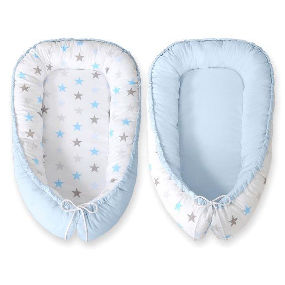 BabyLion Prémium babafészek - Kifordítható! - Kék csillagok